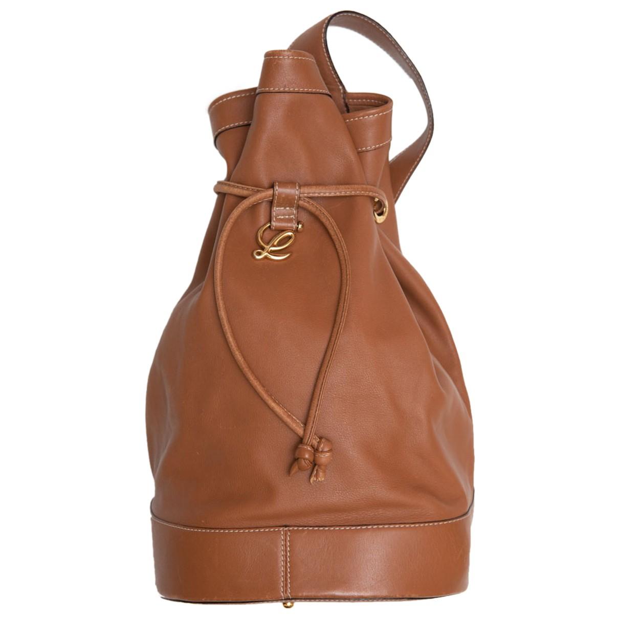 Loewe Anton Brown Fur backpack for Women N