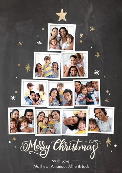 Christmas Photo Cards Flat Glossy Photo Paper Cards with Envelopes, 5x7, Card & Stationery -Christmas Tree Snapshots