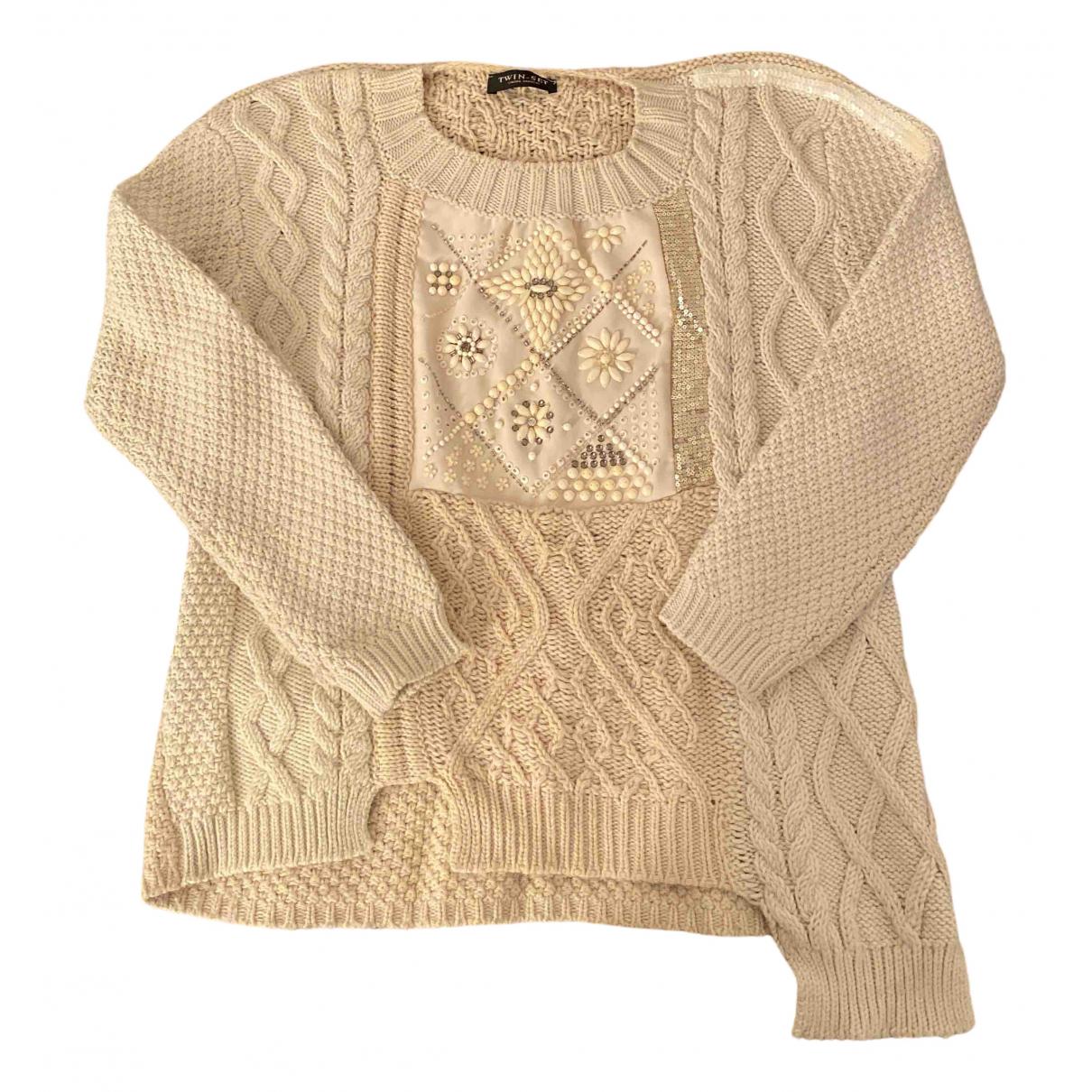 Twin Set \N Beige Wool Knitwear for Women 34 FR