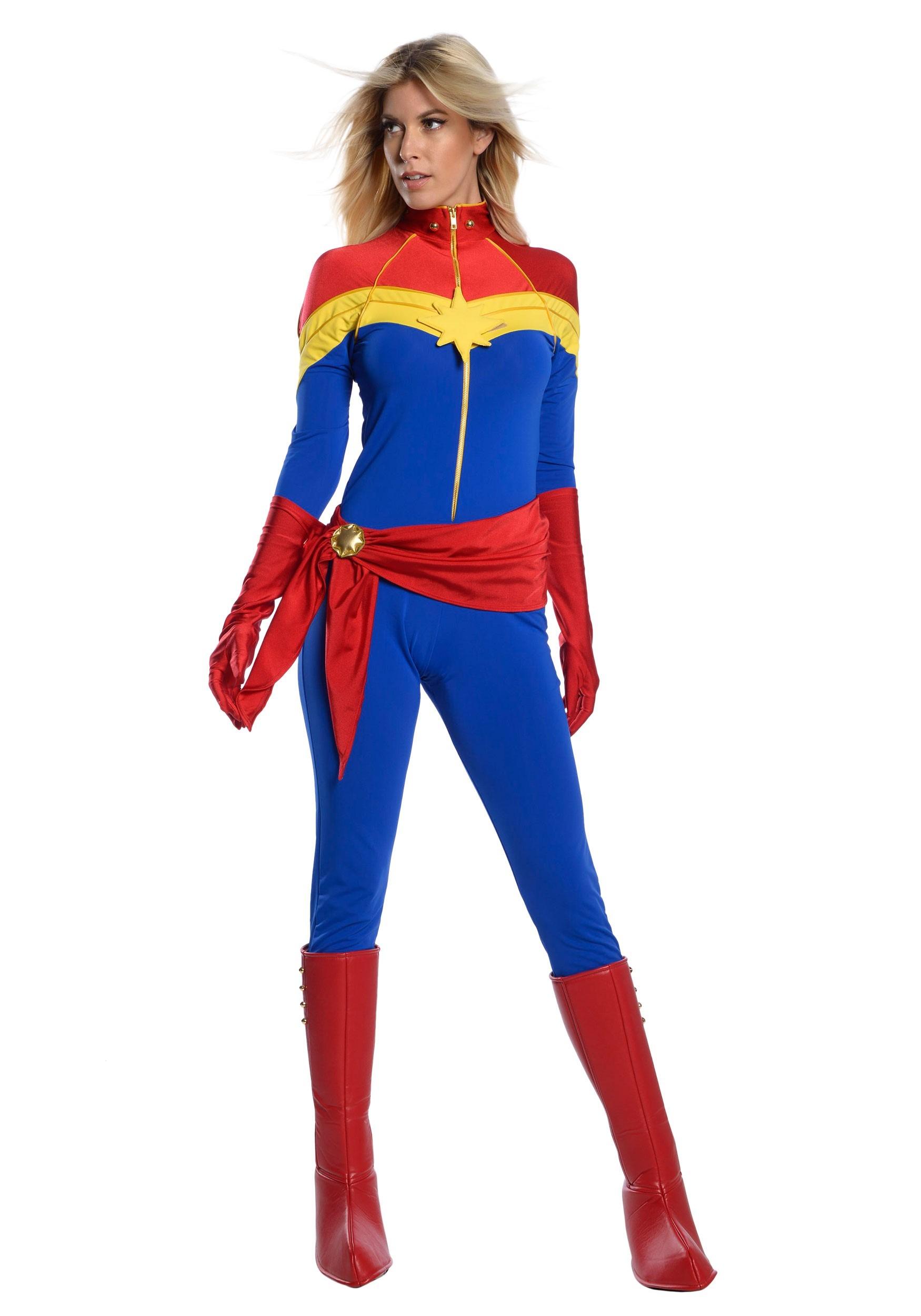 Captain Marvel Womens Premium Costume