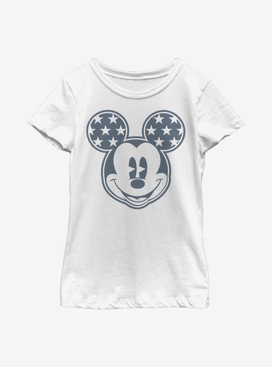 Disney Mickey Mouse Star Ears Youth Girls T-Shirt