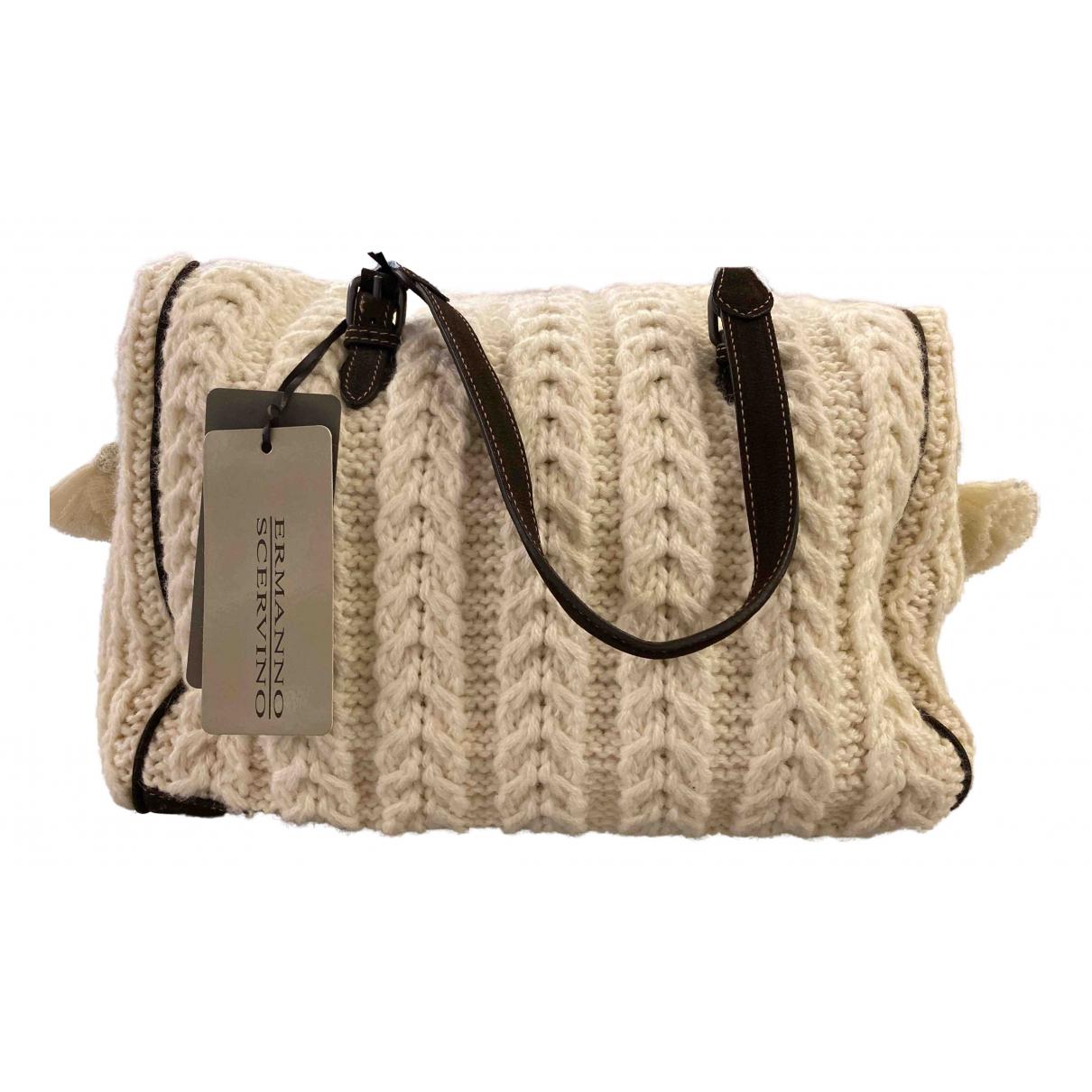 Ermanno Scervino \N Handtasche in  Weiss Wolle