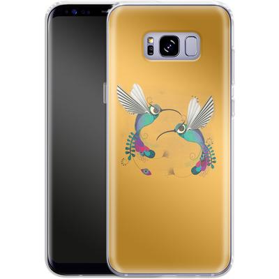 Samsung Galaxy S8 Plus Silikon Handyhuelle - Hummingbirds von Victoria Topping