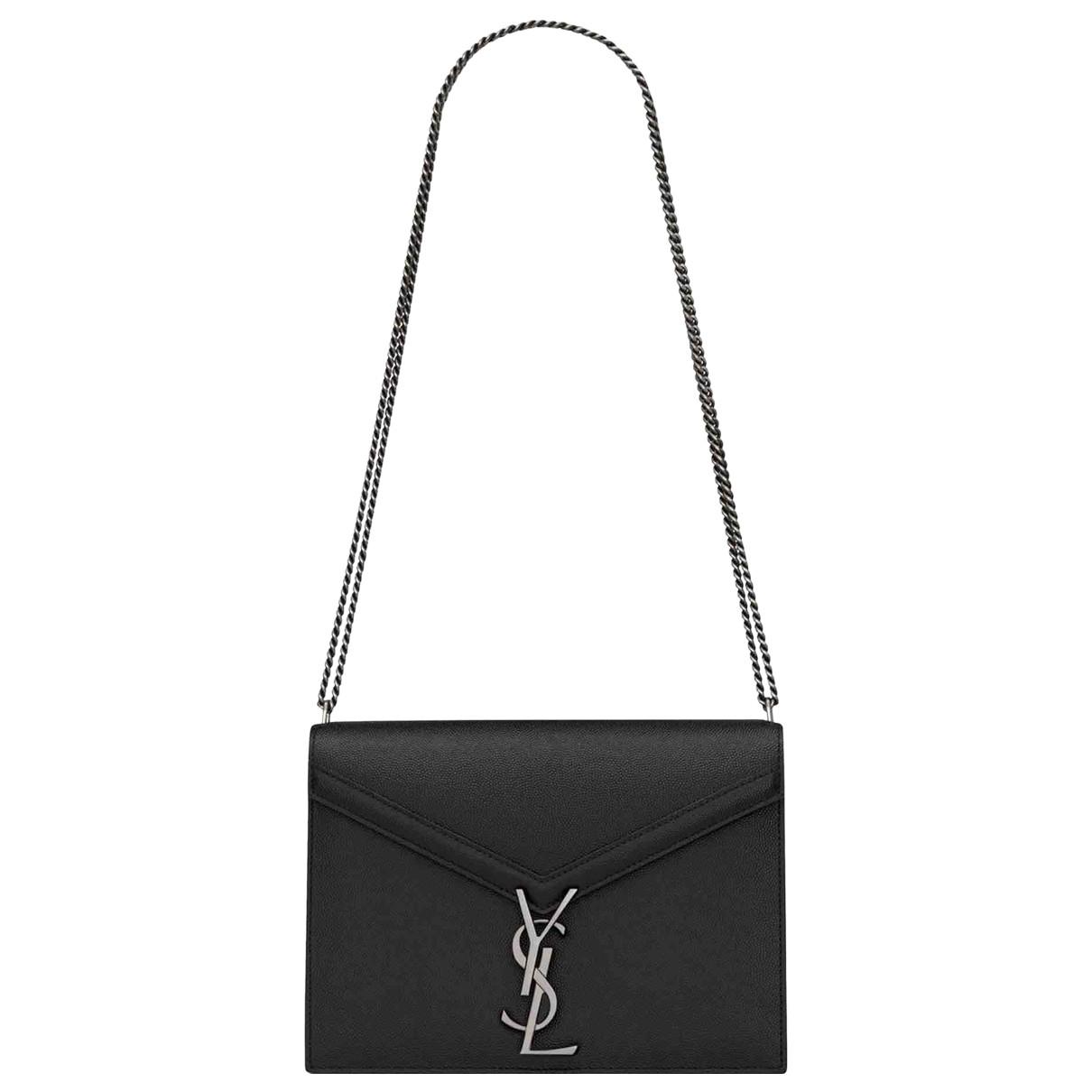 Saint Laurent Cassandra Handtasche in  Schwarz Leder
