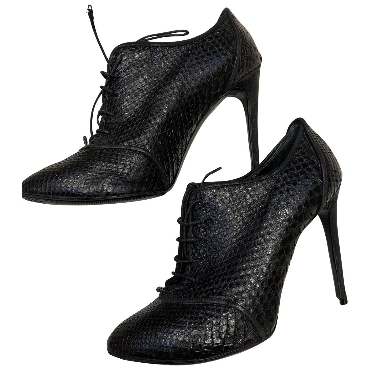 Dolce & Gabbana \N Stiefeletten in  Schwarz Python