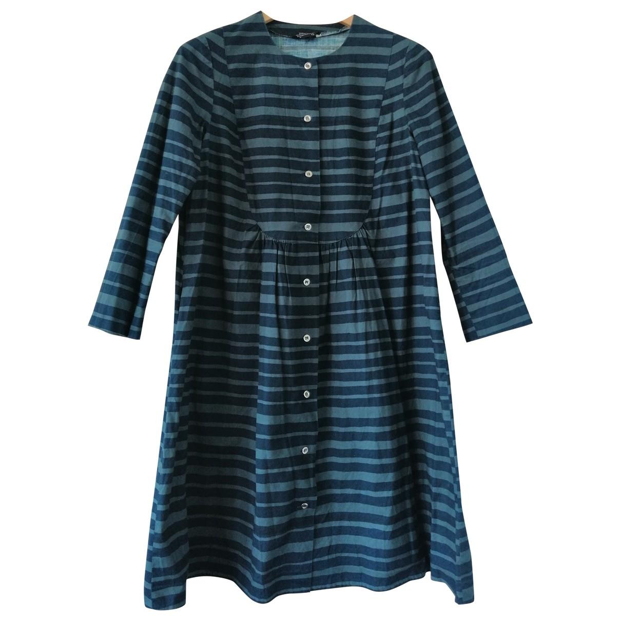 Marimekko \N Kleid in  Blau Baumwolle