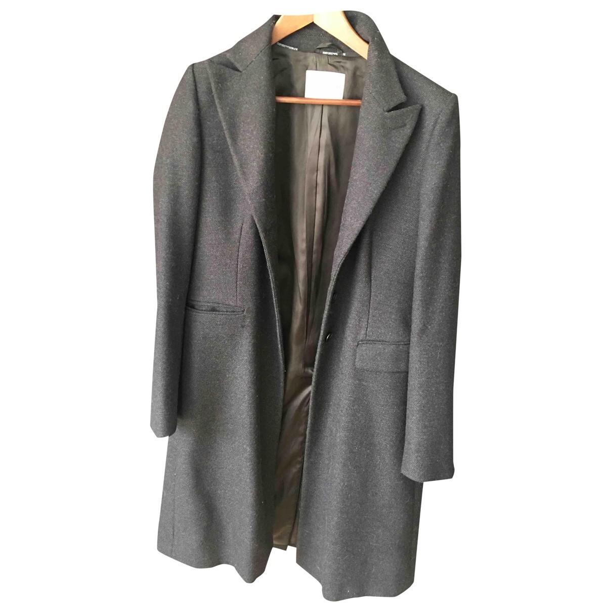 Emporio Armani \N Black Wool coat for Women 46 IT