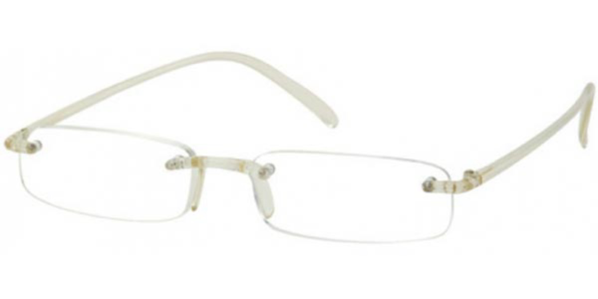 Rectangle Rimless Plastic Men's Glasses Discount White Size +3.00 - Free Lenses - HSA/FSA Insurance - Blue Light Block Available - SmartBuy Readers
