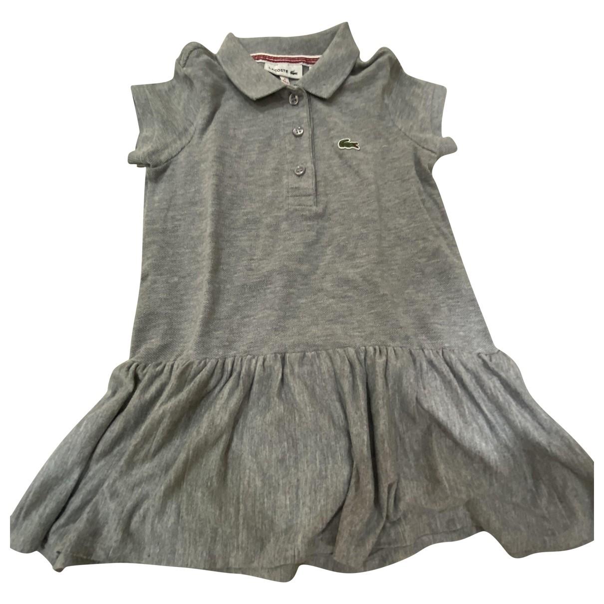 Lacoste Live \N Kleid in  Grau Baumwolle