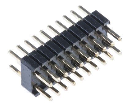 RS PRO , 20 Way, 2 Row, Straight Pin Header (5)