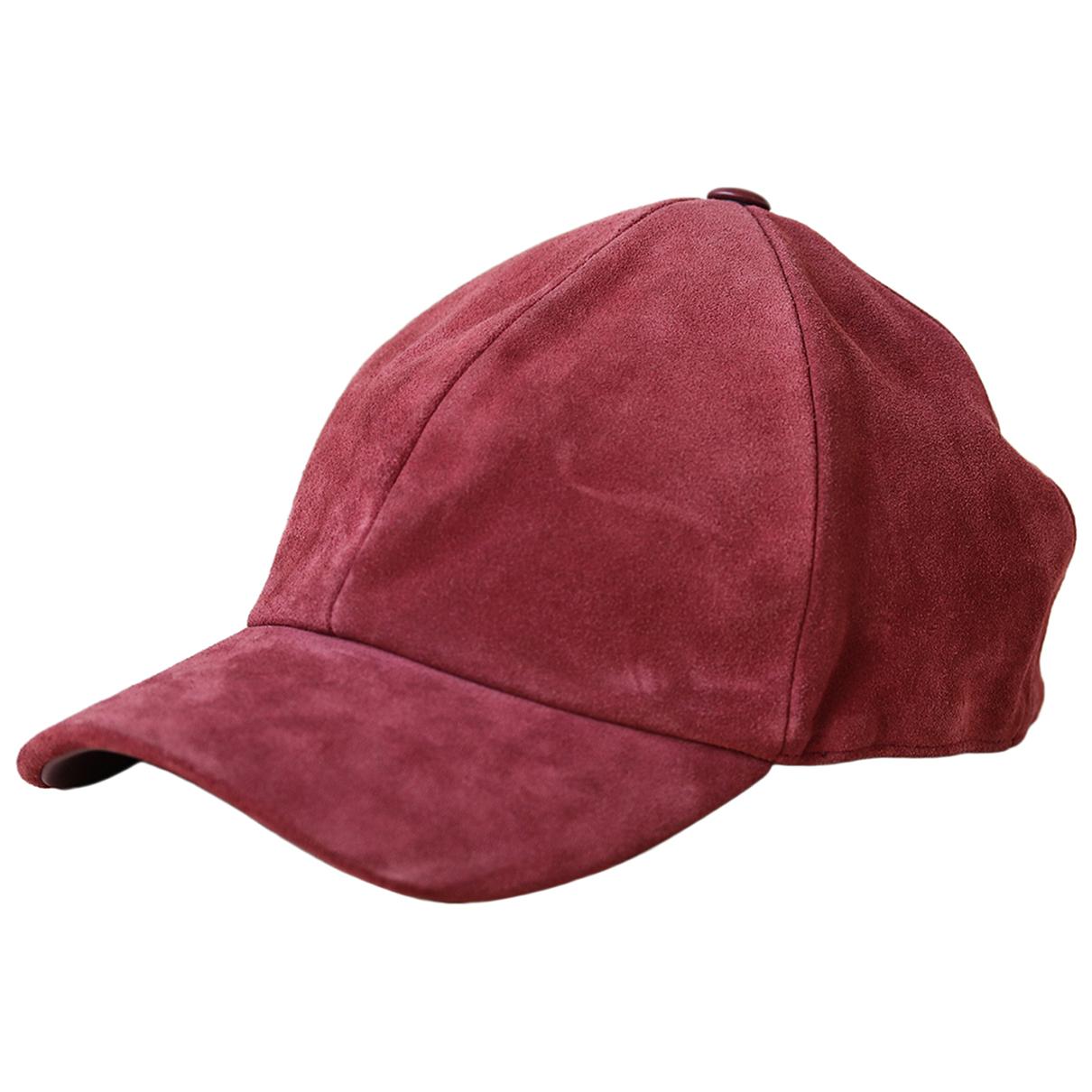 Autre Marque \N Red Suede hat for Women XXL International