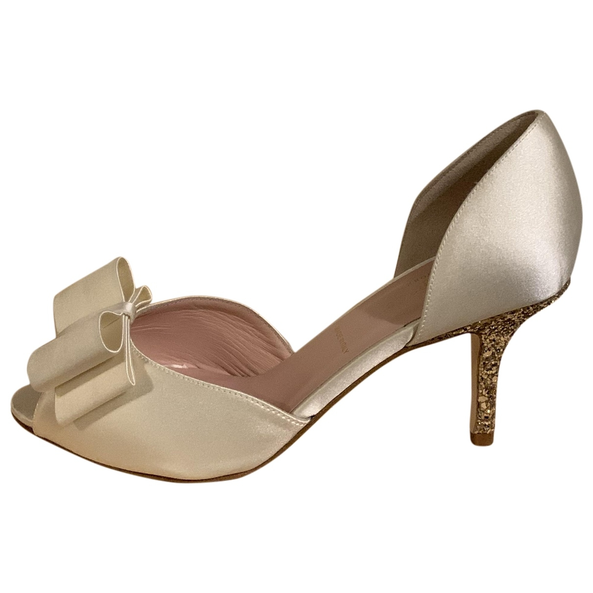 Kate Spade - Escarpins   pour femme en cuir - blanc
