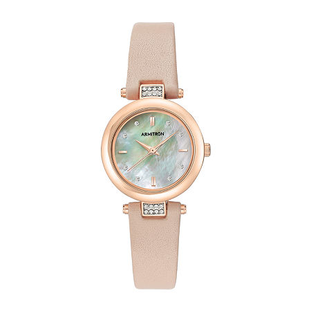 Armitron Womens Crystal Accent Pink Leather Strap Watch-75/5710mprgbh, One Size , No Color Family
