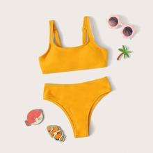 Maedchen Bikini Set mit verstellbarem Riemen