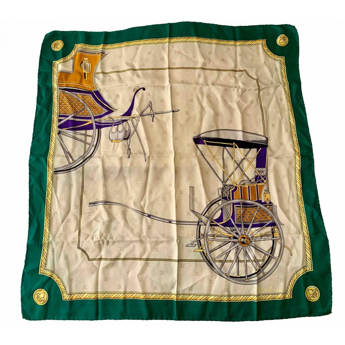 Celine \N Green Silk scarf for Women \N