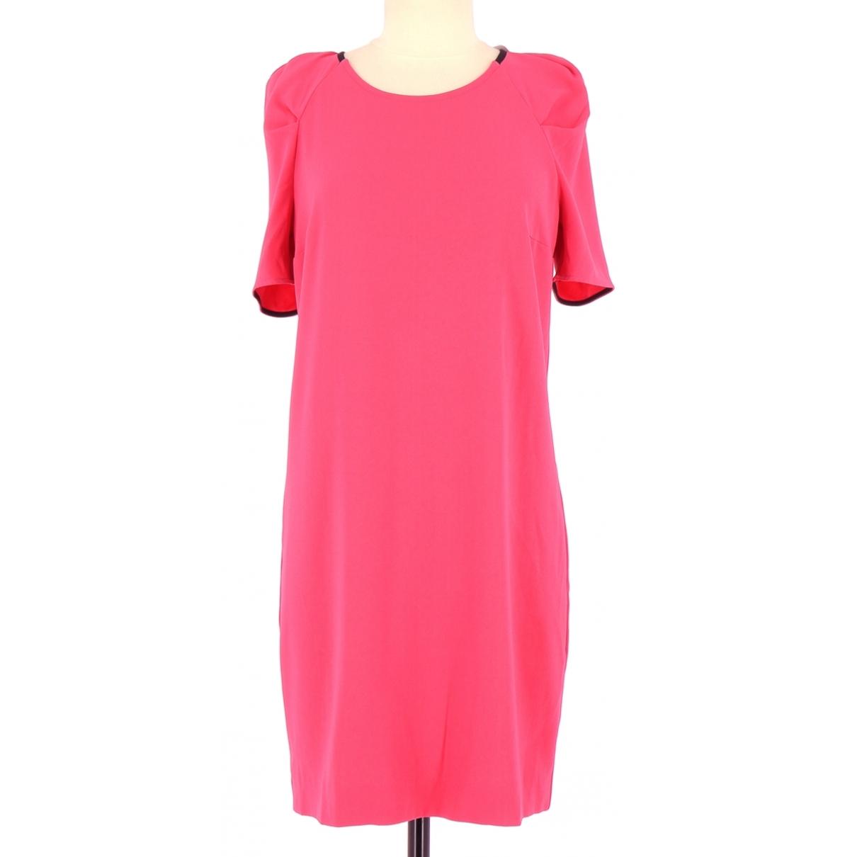 Claudie Pierlot \N Kleid in  Rosa Leder