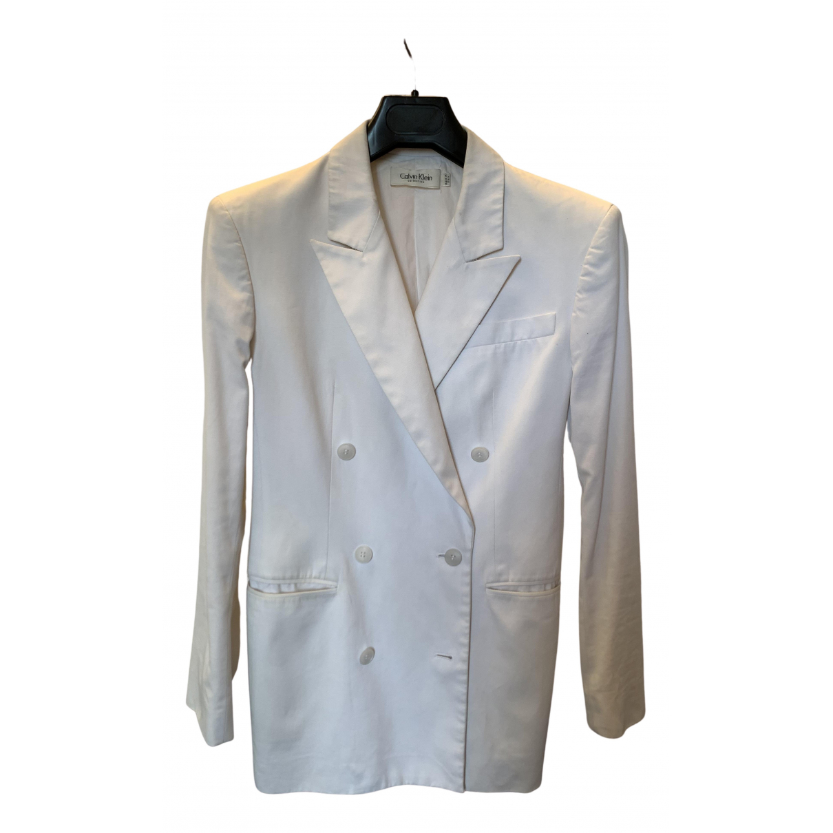 Calvin Klein Collection N White Cotton jacket for Women 4 US