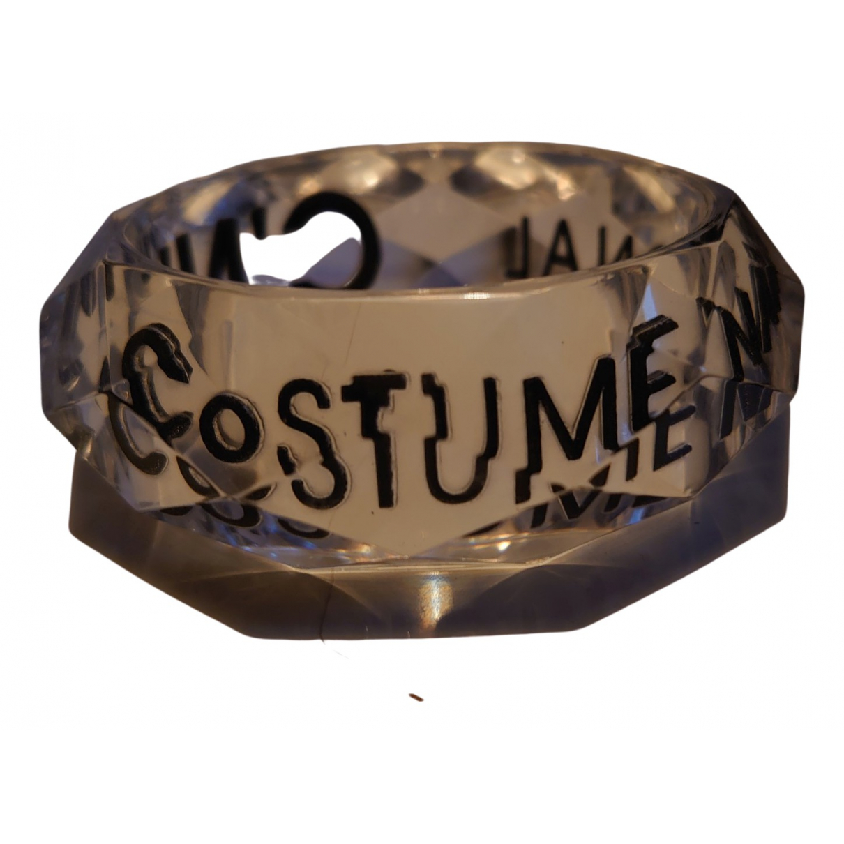 Costume National \N Armband in  Weiss Kunststoff