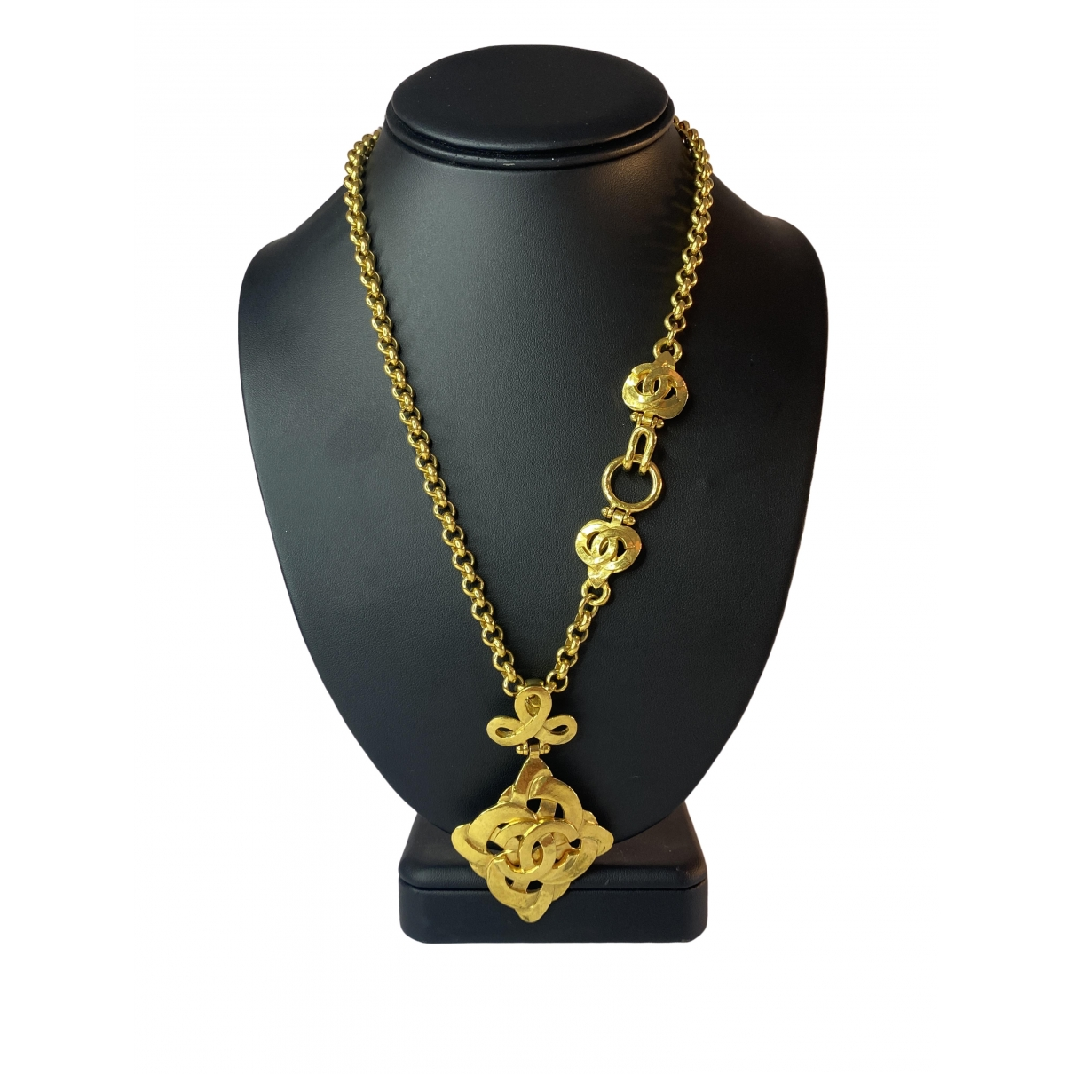 Chanel CC Gold Gold plated Long necklace for Women \N