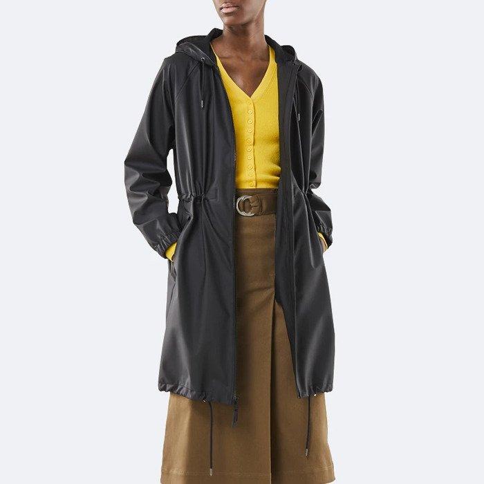 Rains Long Jacket 1278 BLACK