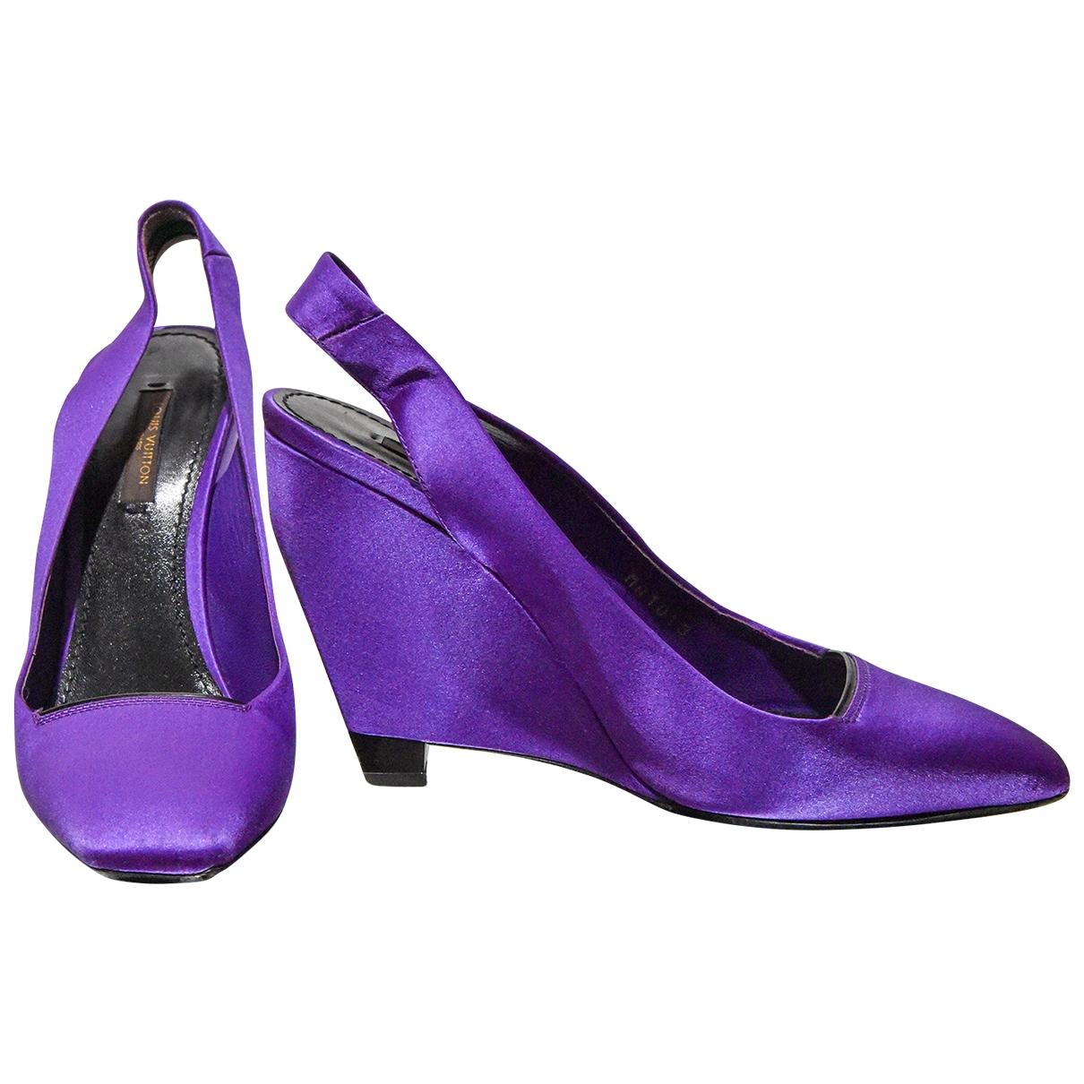 Louis Vuitton - Escarpins   pour femme en toile - violet