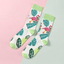 Socken mit Flamingos Muster