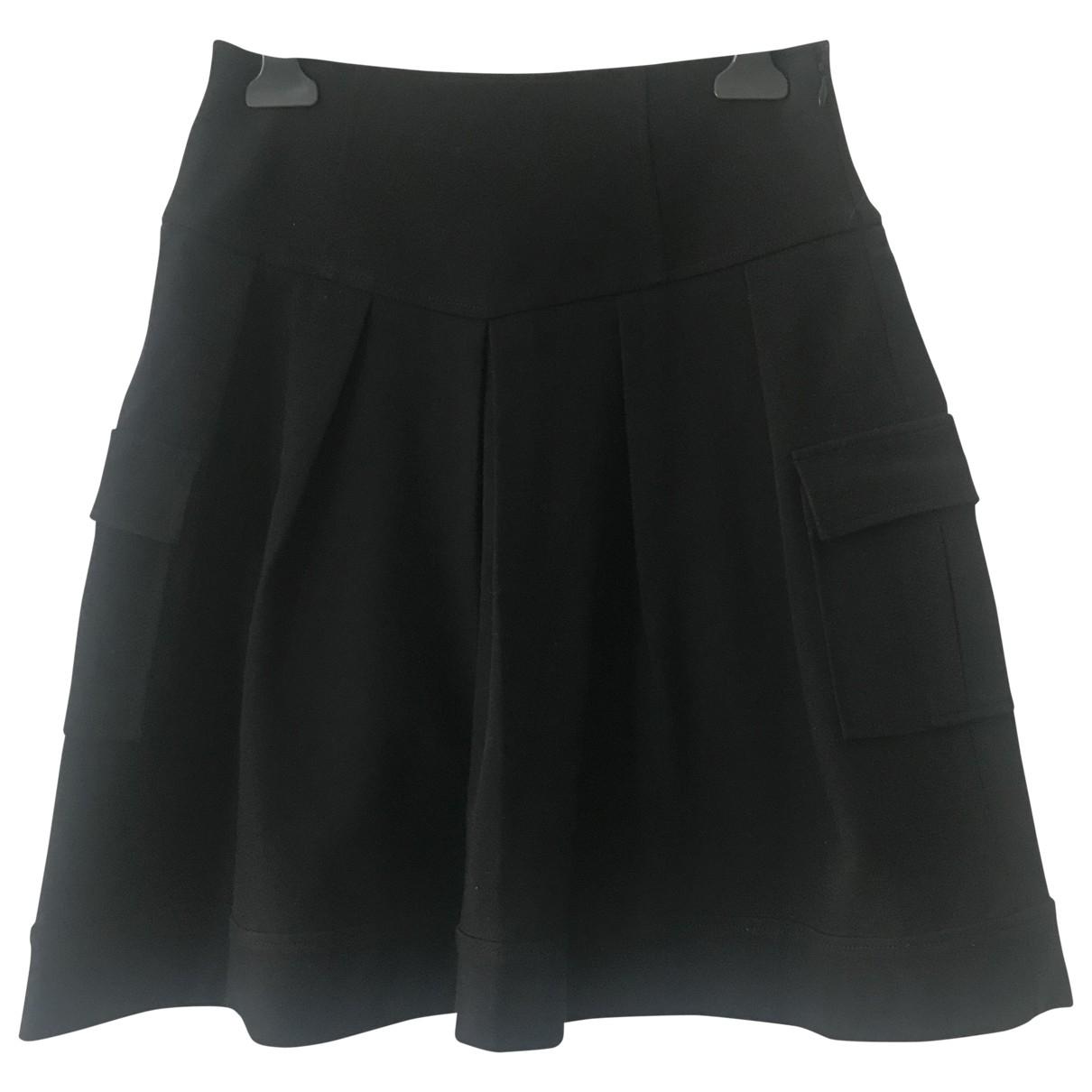 Diane Von Furstenberg - Jupe   pour femme en coton - elasthane - noir