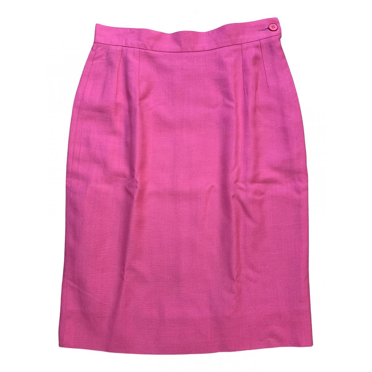 Yves Saint Laurent - Jupe   pour femme en lin - rose
