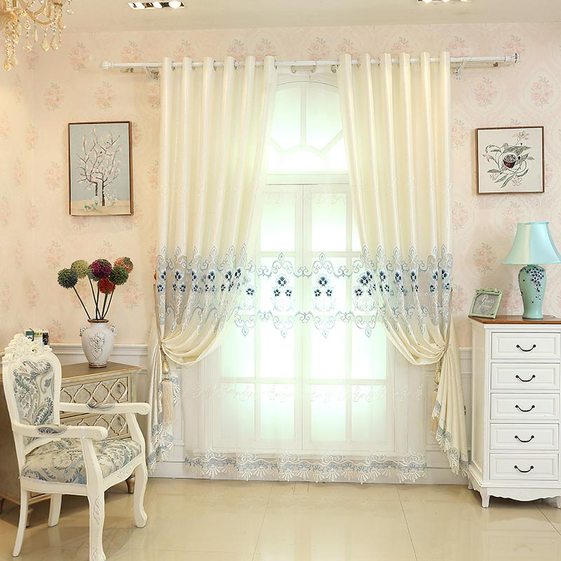Elegant and Noble Fancy Polyester Custom Sheer Curtain for Living Room Bedroom