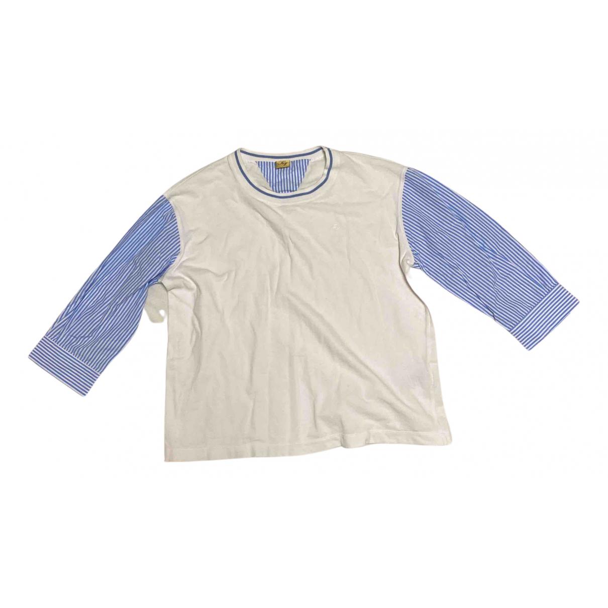 Fay \N Pullover.Westen.Sweatshirts  in  Weiss Baumwolle