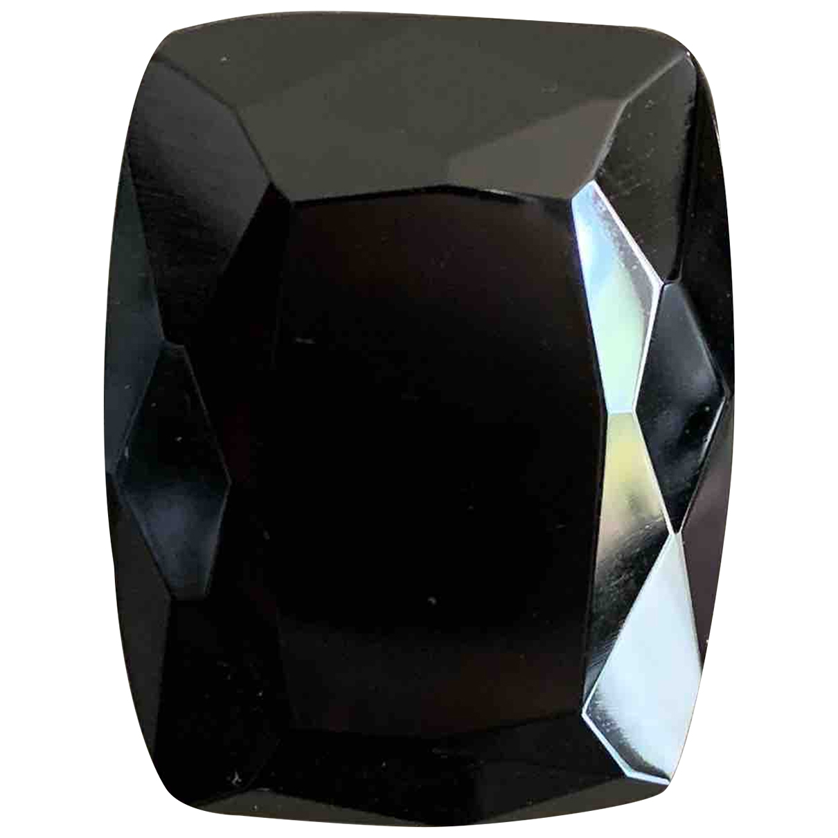 Non Signé / Unsigned \N Black Glass ring for Women \N