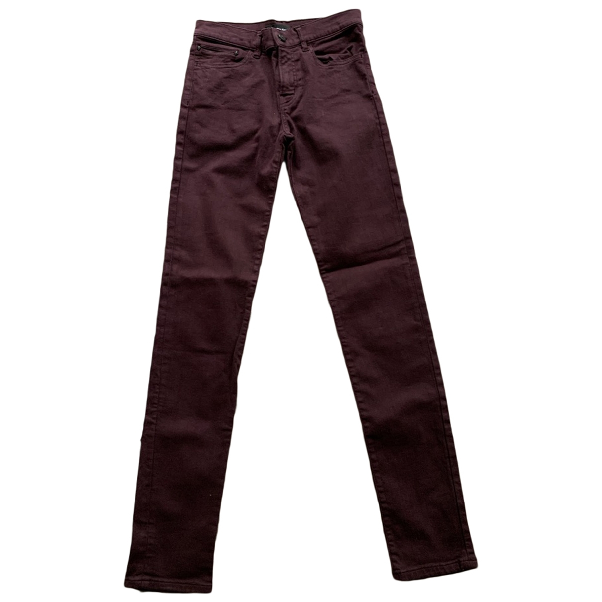 The Kooples \N Burgundy Cotton - elasthane Jeans for Women 24 US