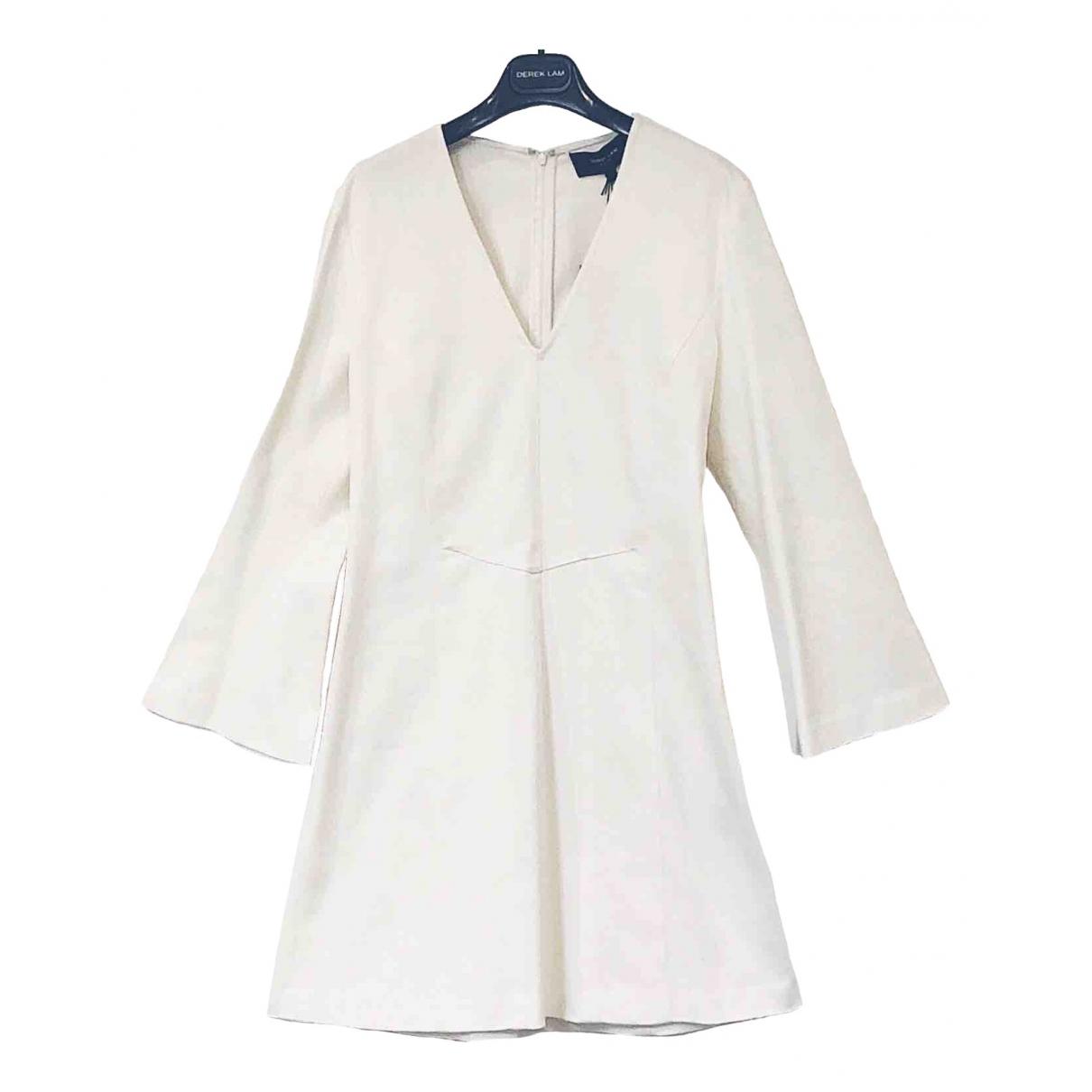 Derek Lam \N White Denim - Jeans dress for Women 46 IT