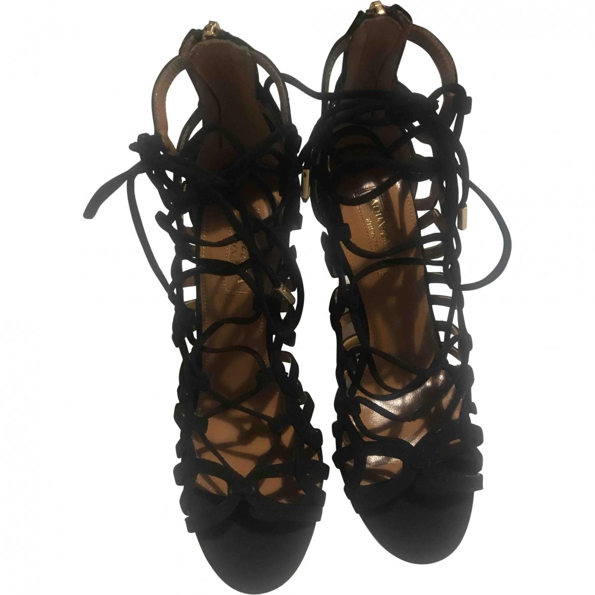 Aquazzura \N Black Suede Sandals for Women 36 EU