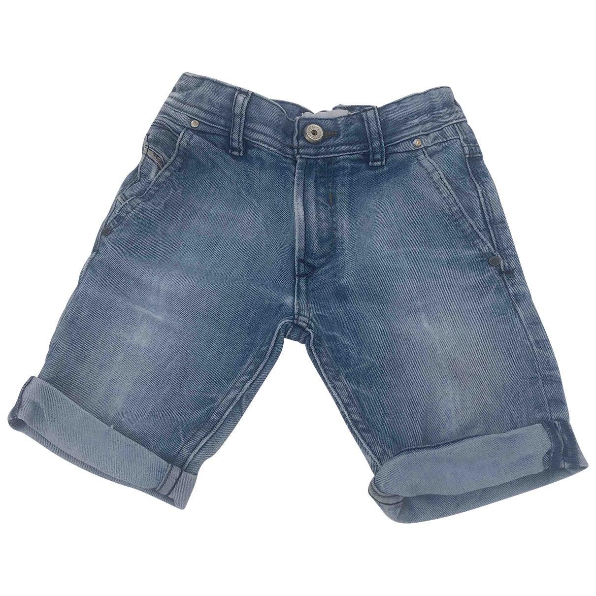 Diesel - Short   pour enfant en denim - bleu