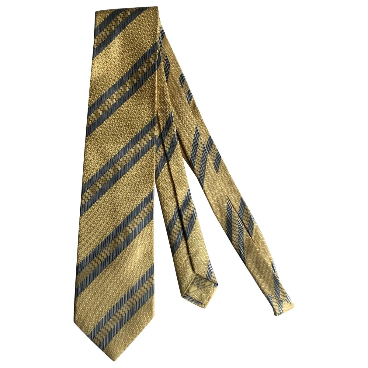 Brioni - Cravates   pour homme en soie - jaune