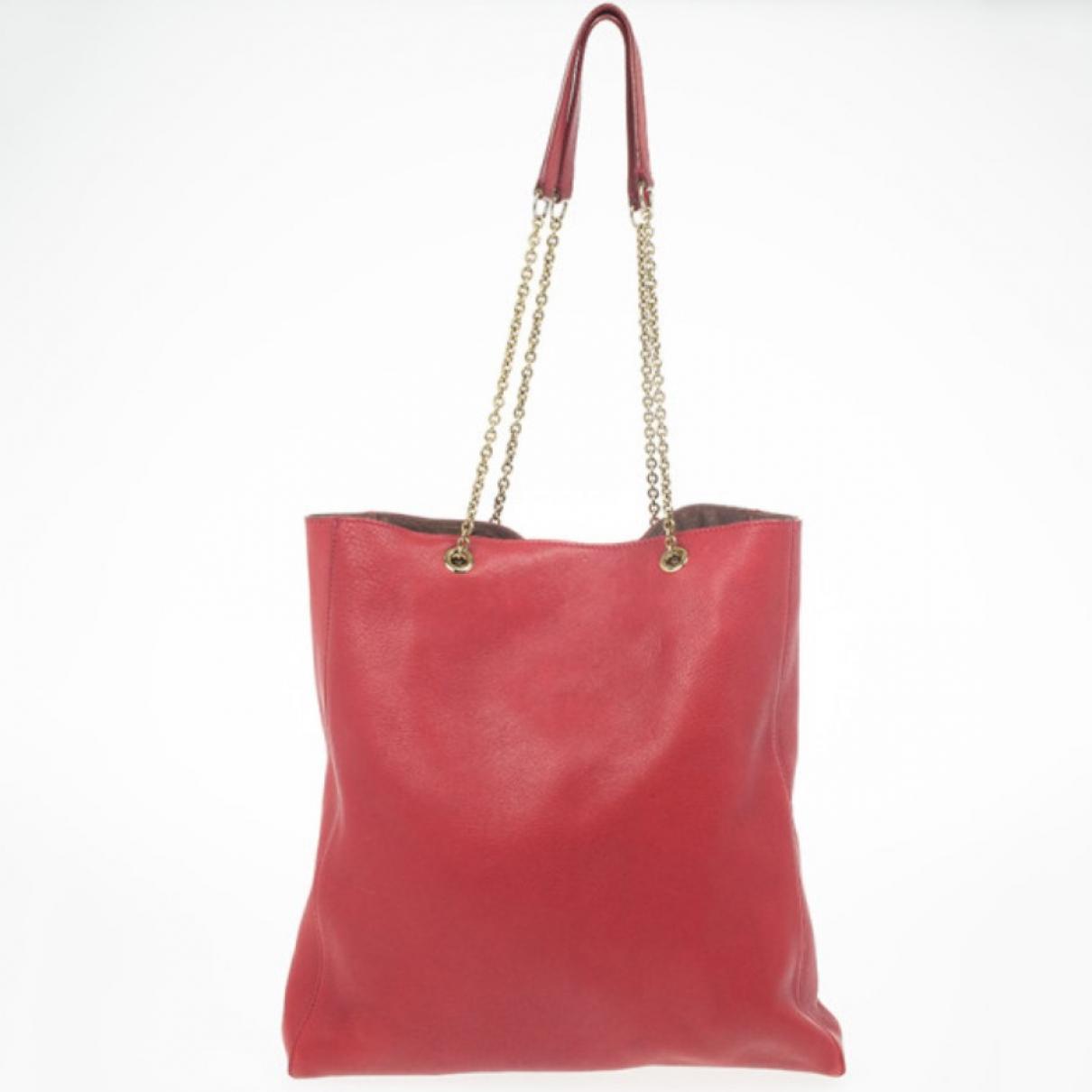 Celine N Red Leather handbag for Women N