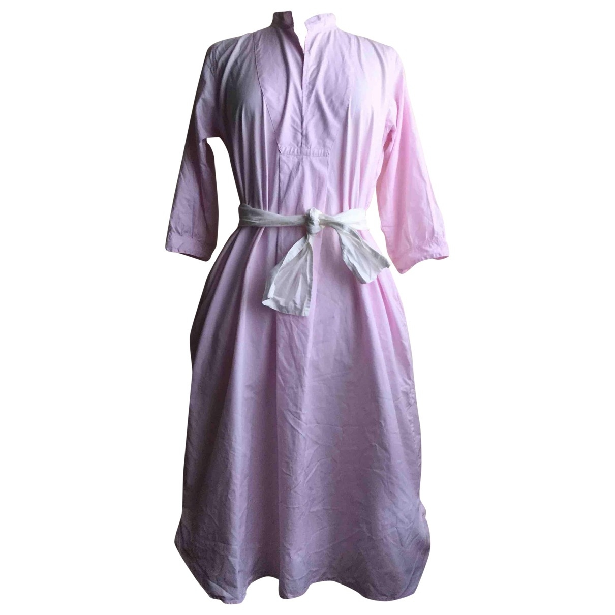 Non Signé / Unsigned \N Pink Cotton dress for Women 42 IT