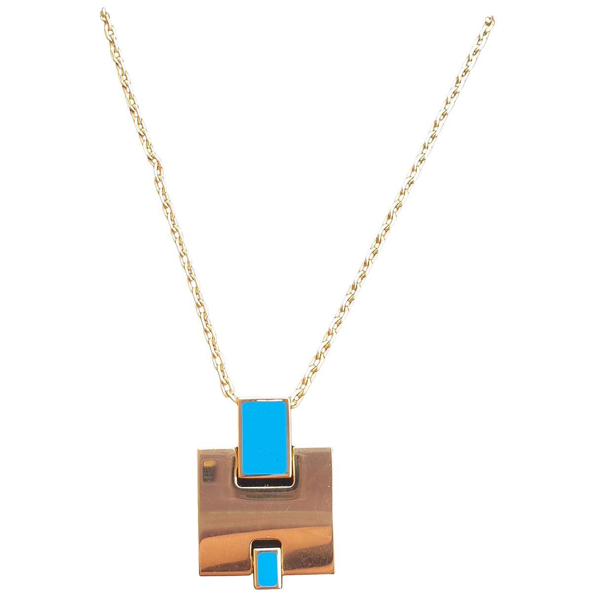 Hermes \N Anhaenger in  Blau Metall