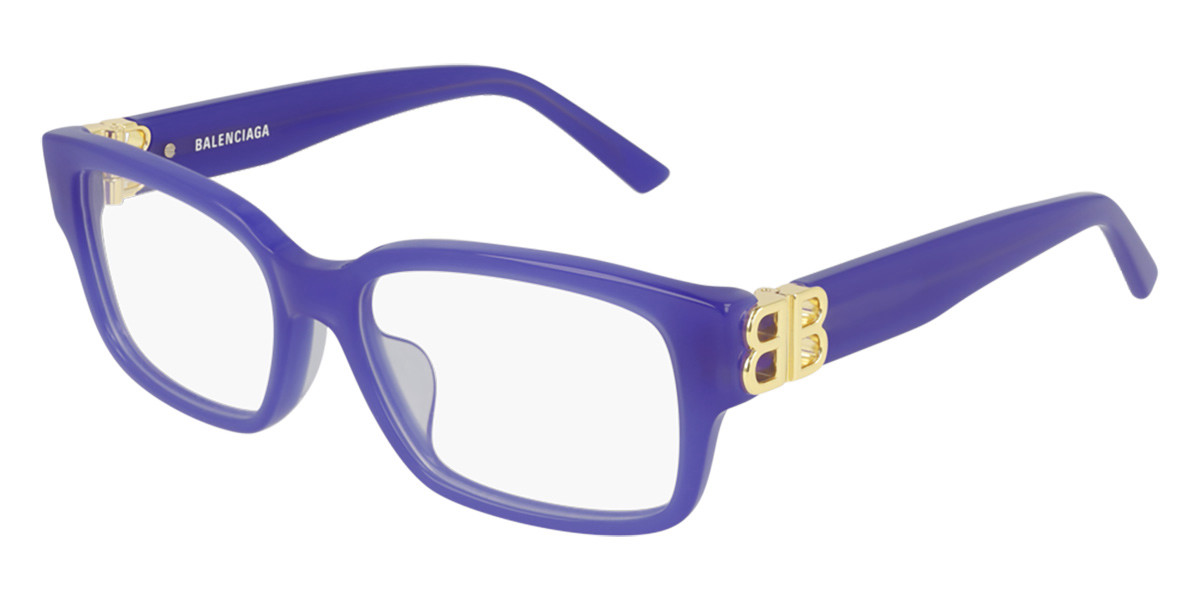 Balenciaga BB0105O 003 Women's Glasses Violet Size 54 - Free Lenses - HSA/FSA Insurance - Blue Light Block Available