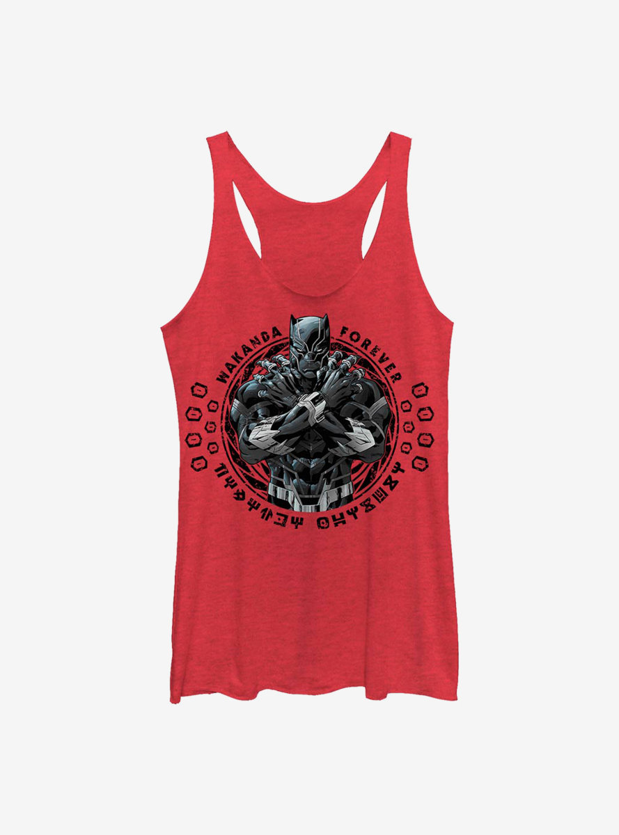 Marvel Black Panther Crossed Arms Womens Tank Top