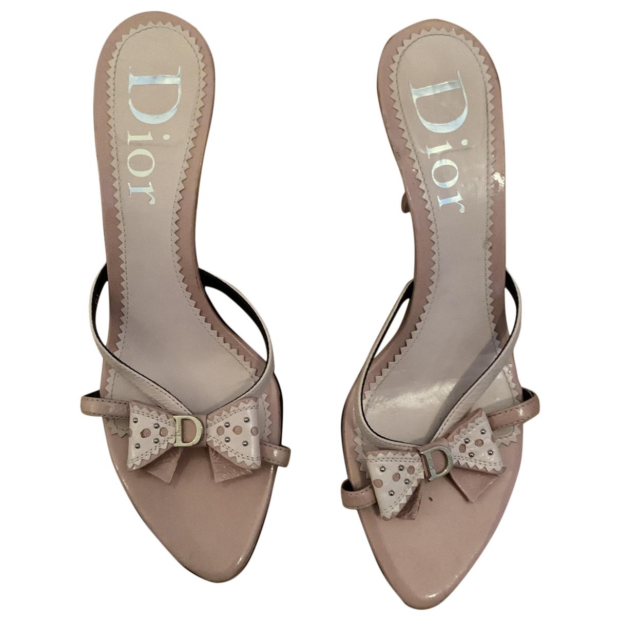 Dior - Sandales   pour femme en cuir - rose