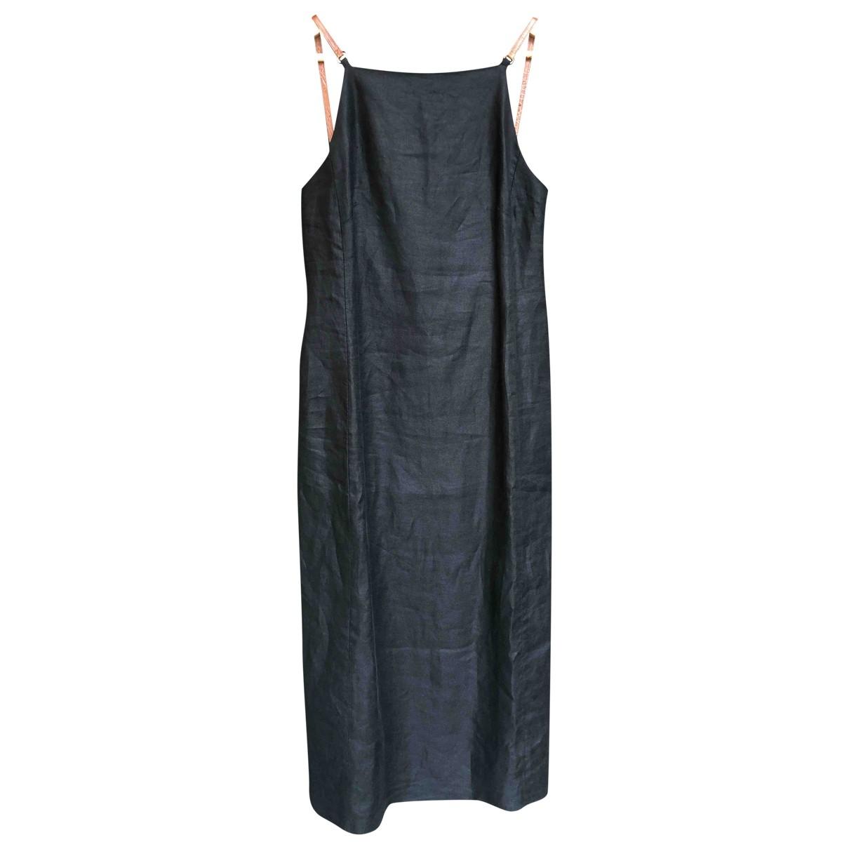 Max Mara \N Black Linen dress for Women 40 FR