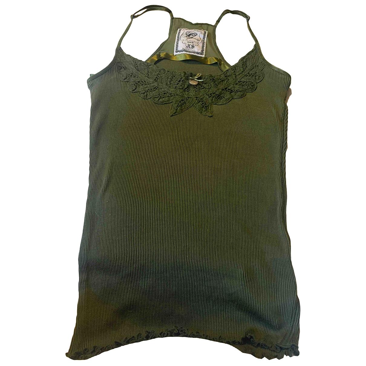 Guess - Top   pour femme en coton - vert