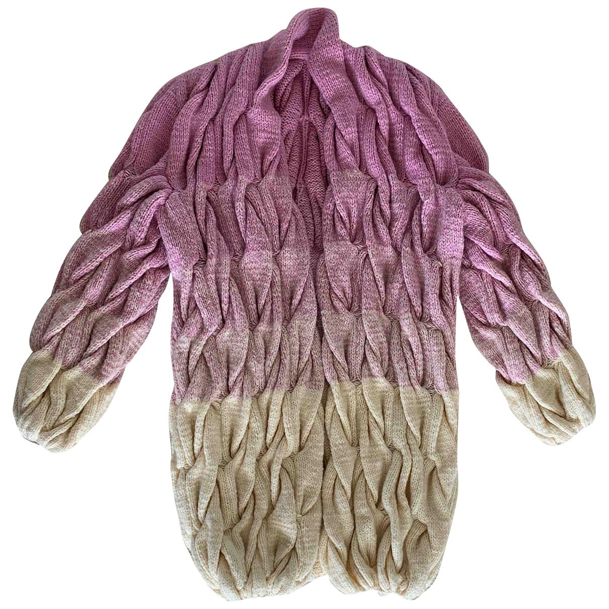 - Pull Hippie Chic pour femme en laine - rose