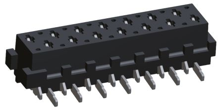 TE Connectivity , Micro-MaTch 1.27mm Pitch 14 Way 2 Row Straight PCB Socket, Surface Mount, Solder Termination (10)