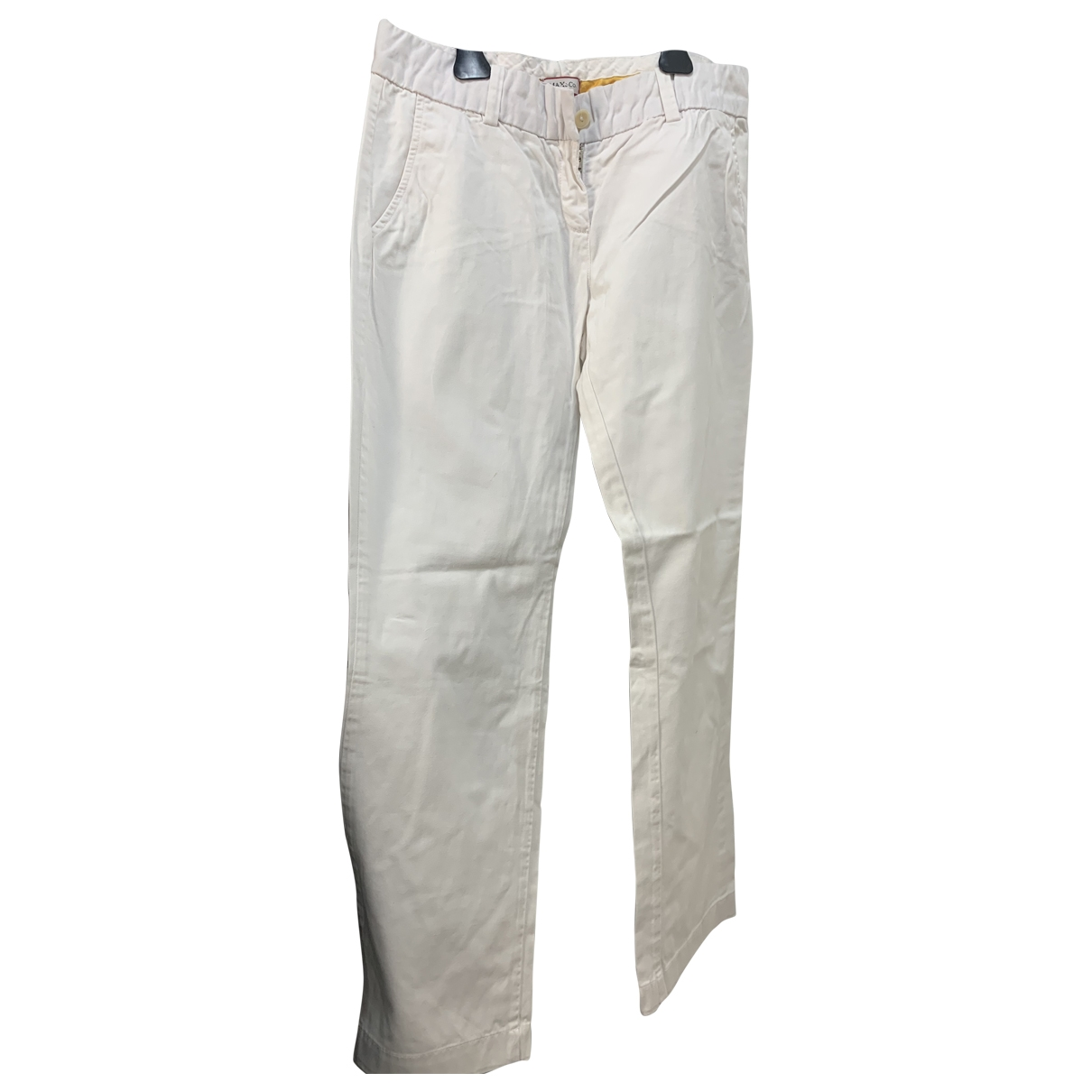 Max & Co \N White Cotton Trousers for Women M International