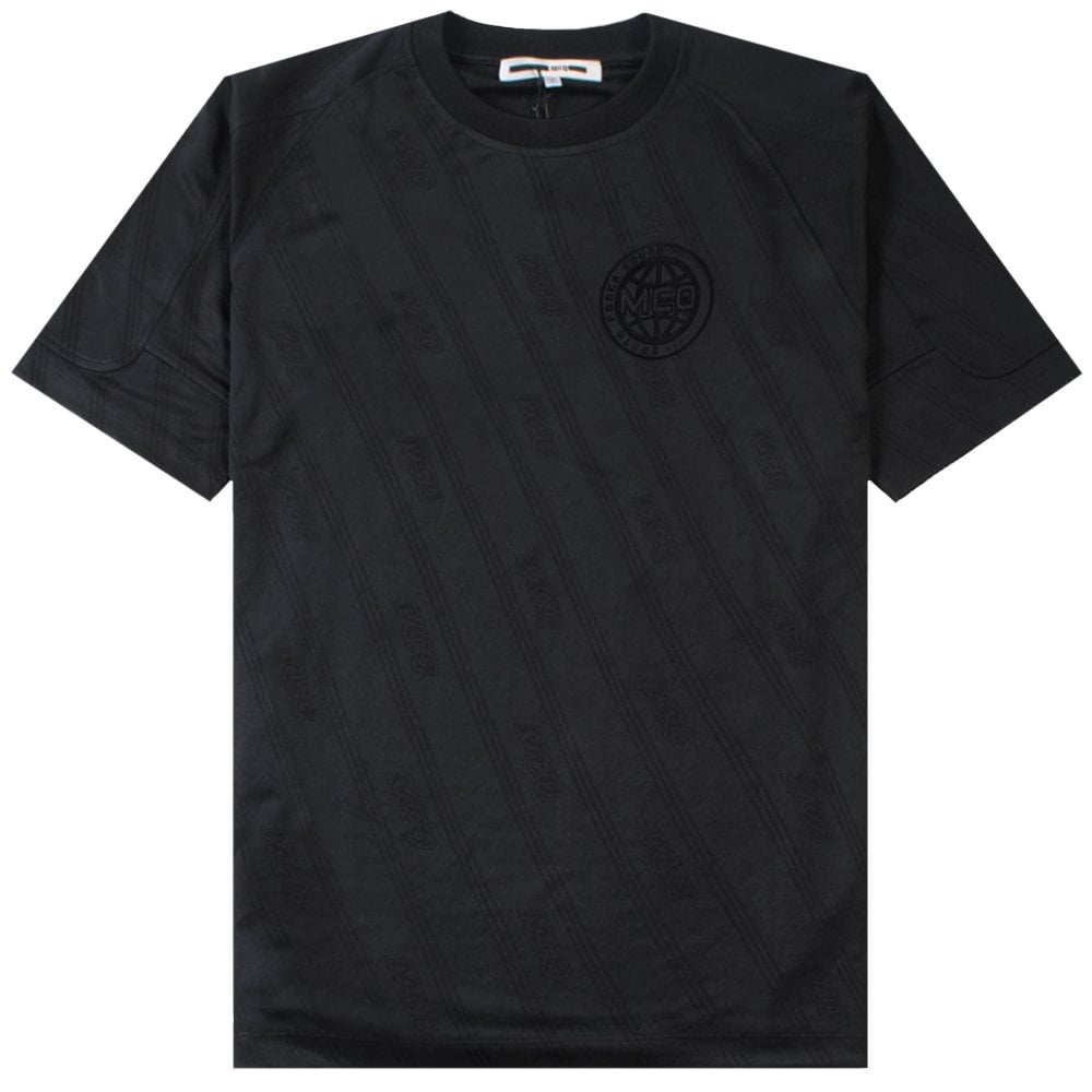 McQ Alexander McQueen Football Style Jersey Colour: BLACK, Size: MEDIUM