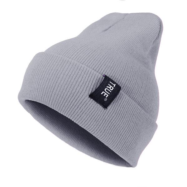 Mens Warm Solid Stripe Curling Thicker Plus Plush Beanie Hat Outdoor High Stretch Retro Brimles Caps