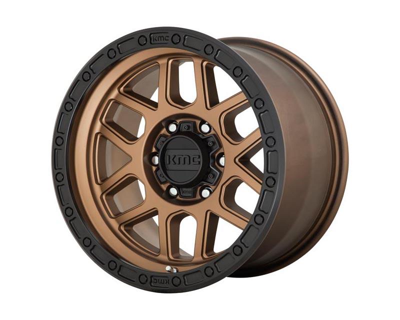 KMC Mesa Wheel 20x9 8X6.5 0mm Matte Bronze w/Black Lip